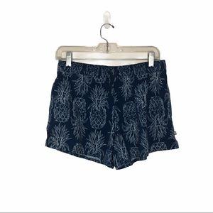 Lauren James Blue Pineapple Swim Shorts Medium
